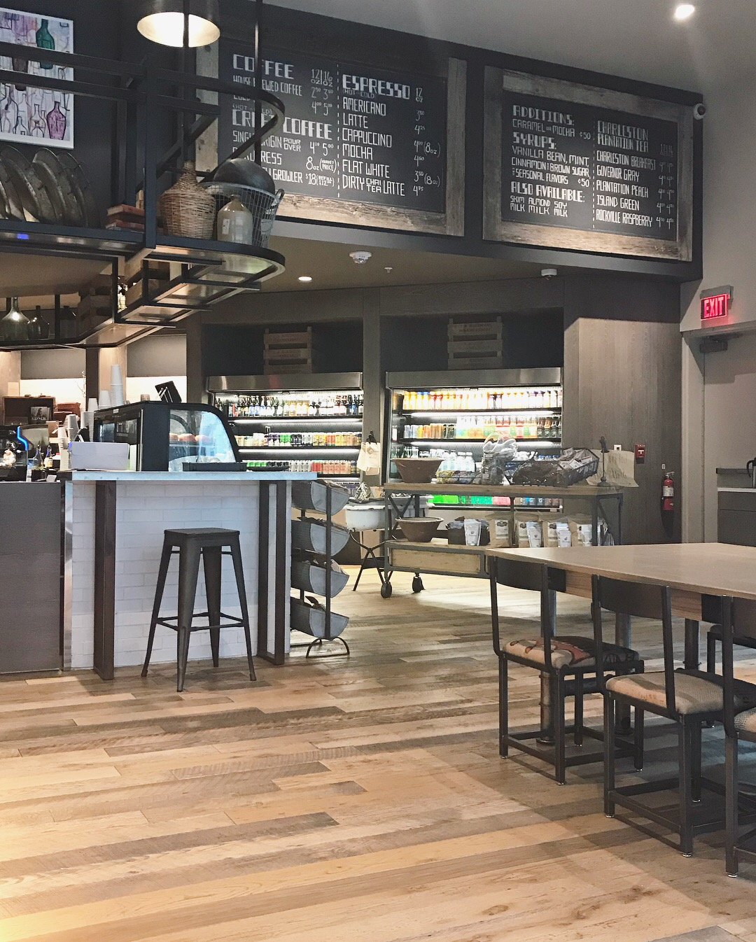rustic farmhouse inspired cafe uptown charlotte
