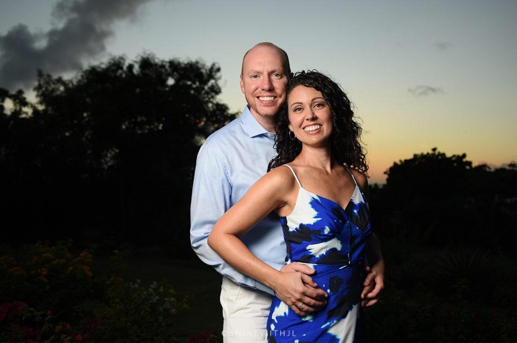 sandals grenada couples sunset portraits