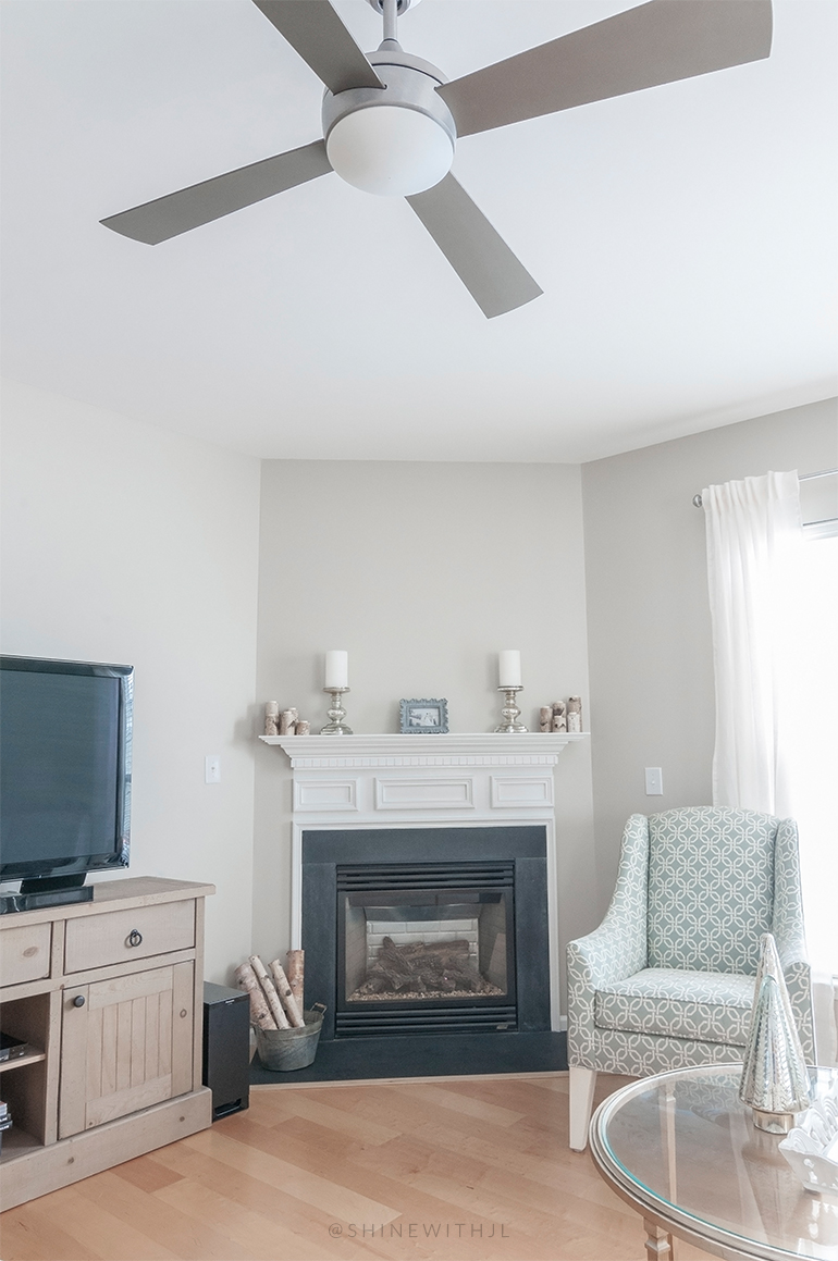 silver modern farmhouse ceiling fan coastal chic living room