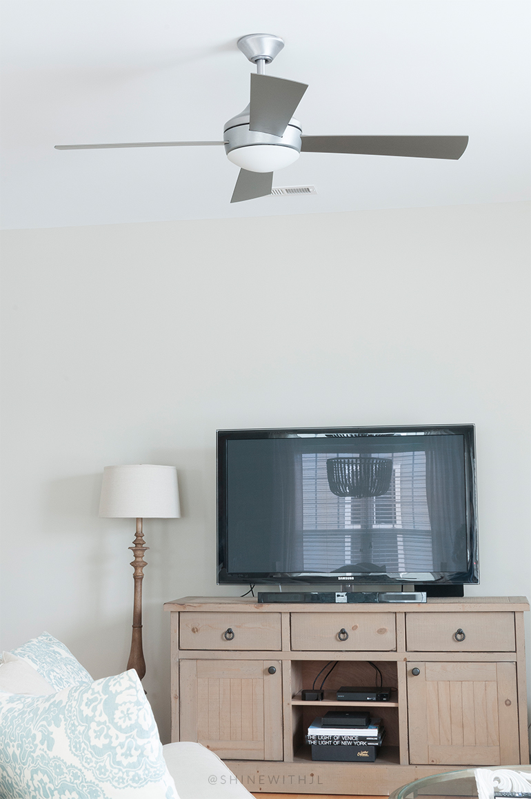 silver modern farmhouse ceiling fan cottage chic living room