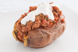 paleo sloppy joe stuffed sweet potatoes football food
