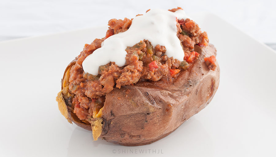 Recipe: Paleo Sloppy Joe Stuffed Sweet Potatoes