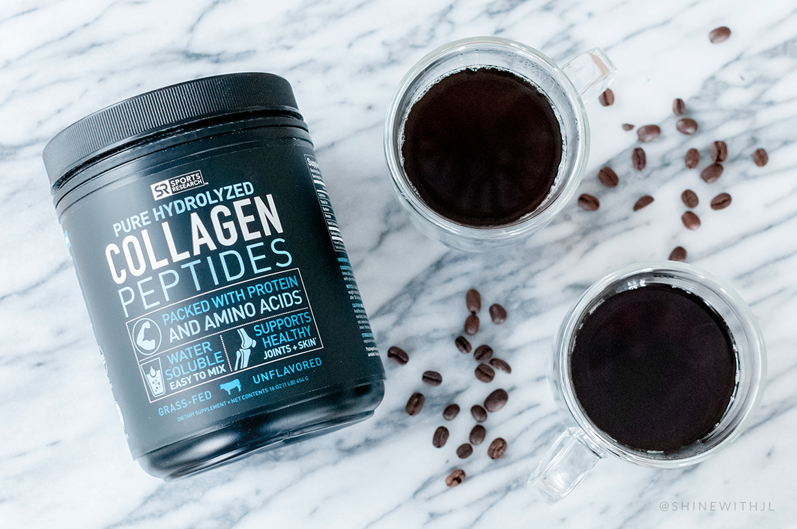 sports research hydrolyzed collagen peptides with coffee