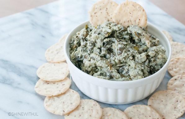 dairy free gluten free spinach artichoke dip