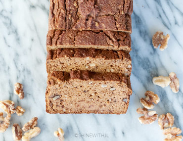 gluten free dairy free pumpkin bread with walnuts