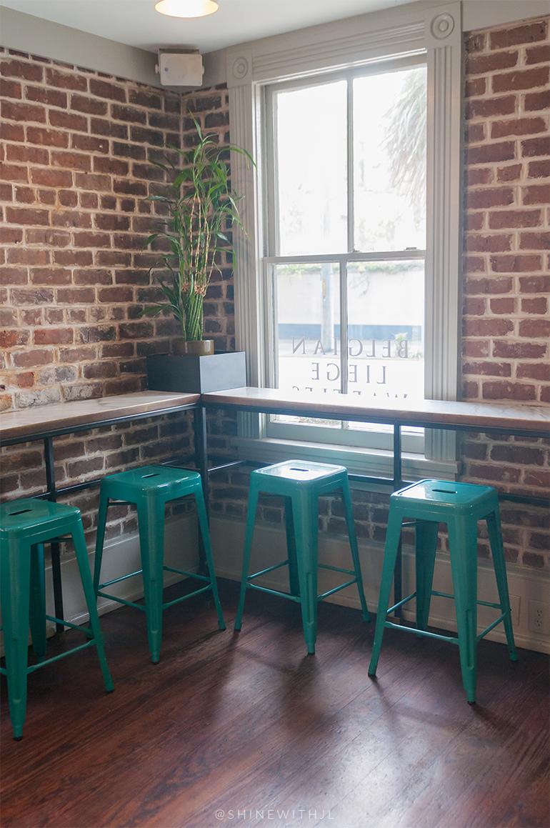 teal bar stools mirabelle cafe savannah