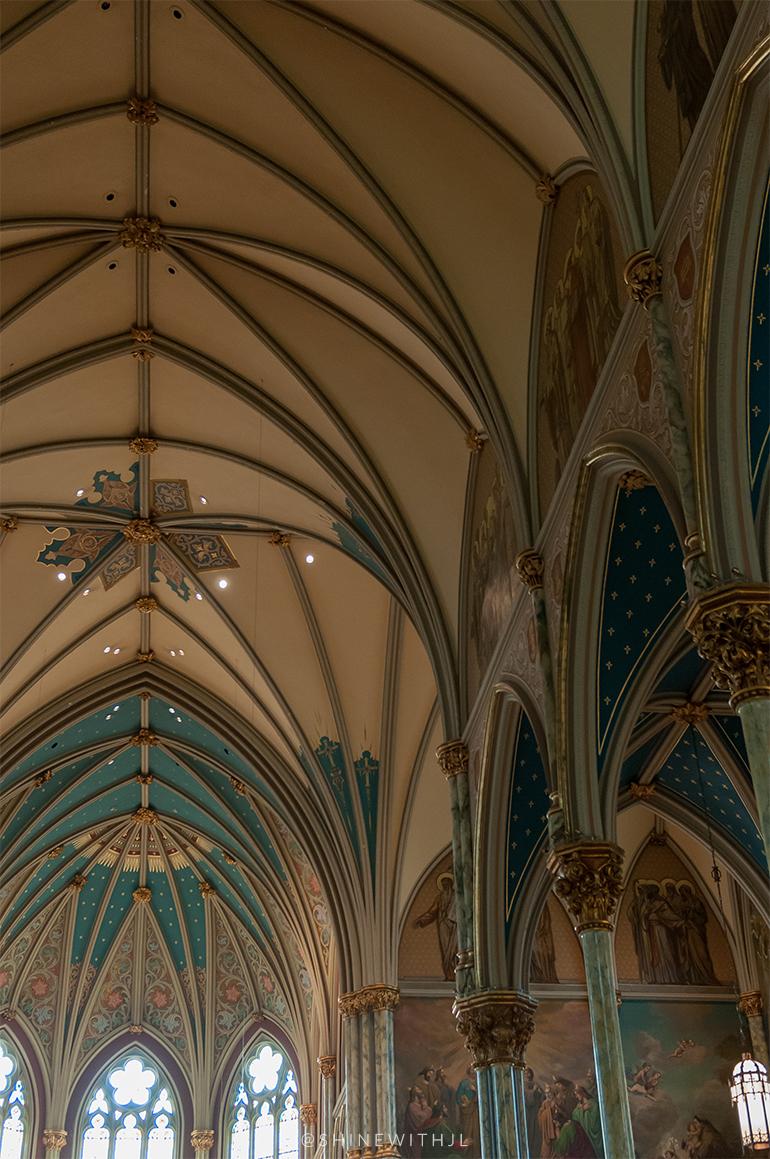 breathtaking church ceiling cathedral of st john the baptist savannah