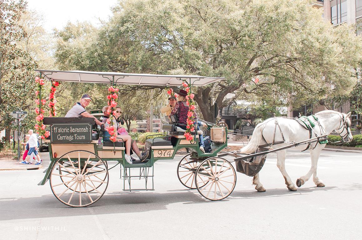 horse drawn carriage tour savannah vacation