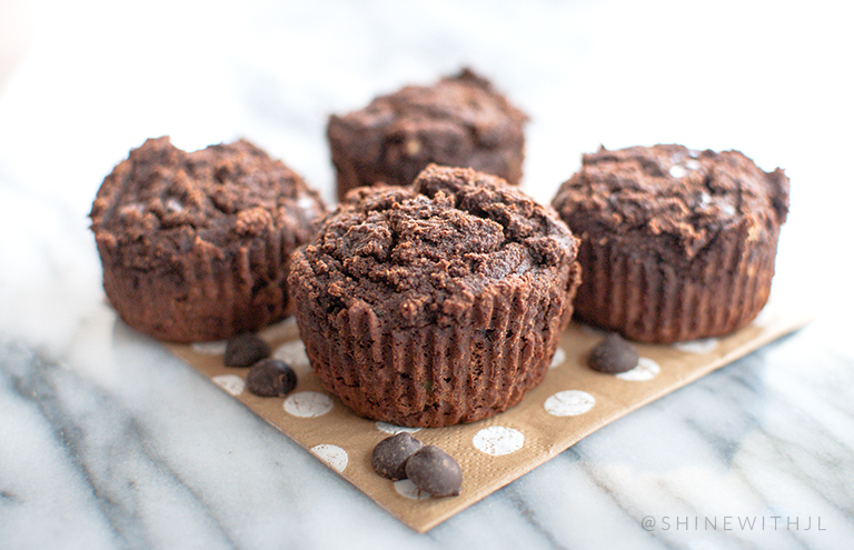 paleo gluten free double chocolate avocado muffin recipe shinewithjl