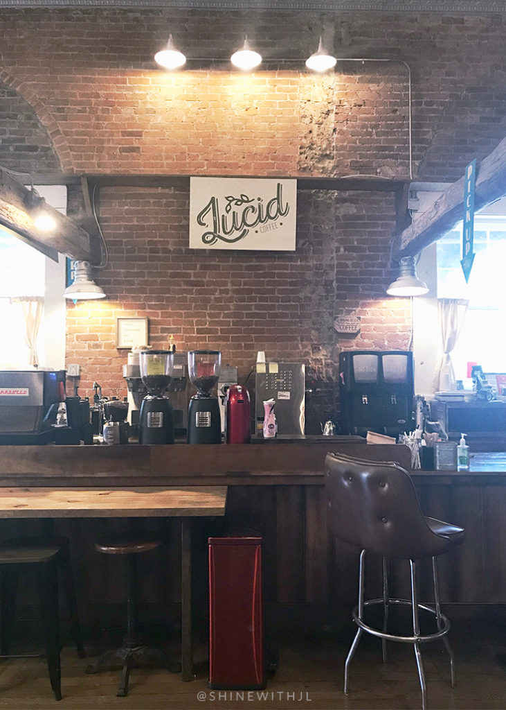 brick faced coffee bar lucid coffee newburgh indiana