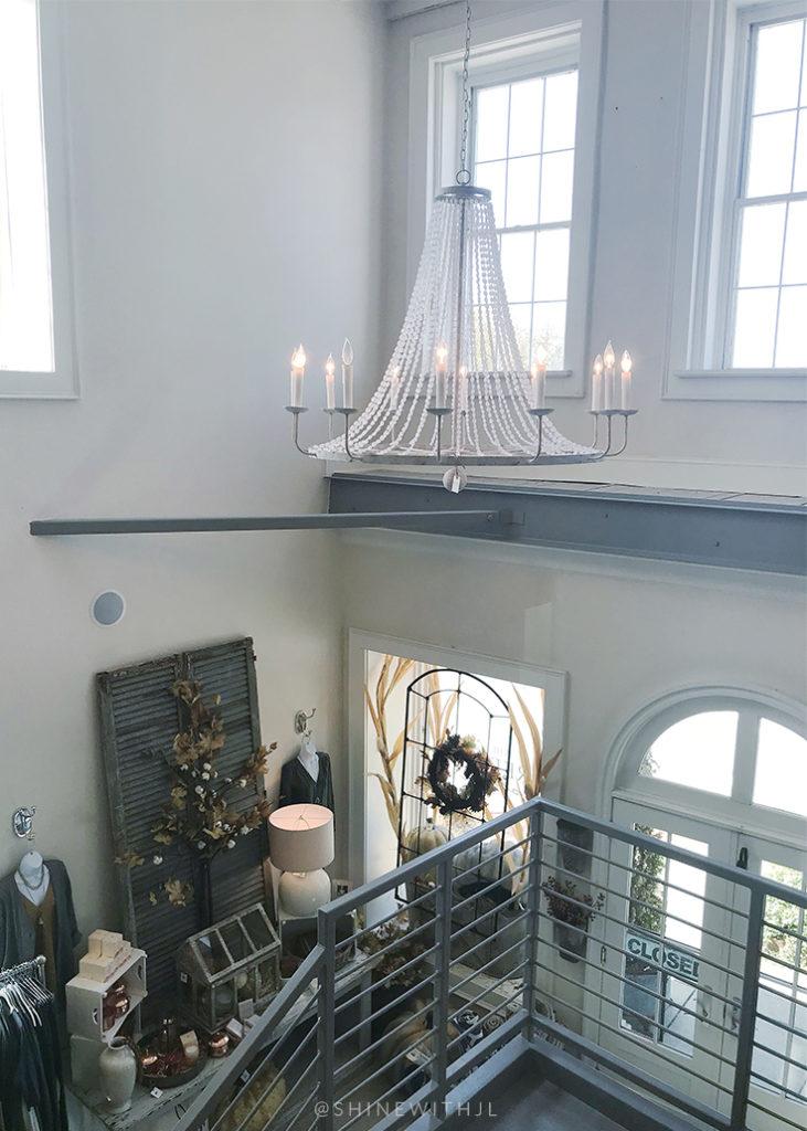 white beaded farmhouse candelabra chandelier