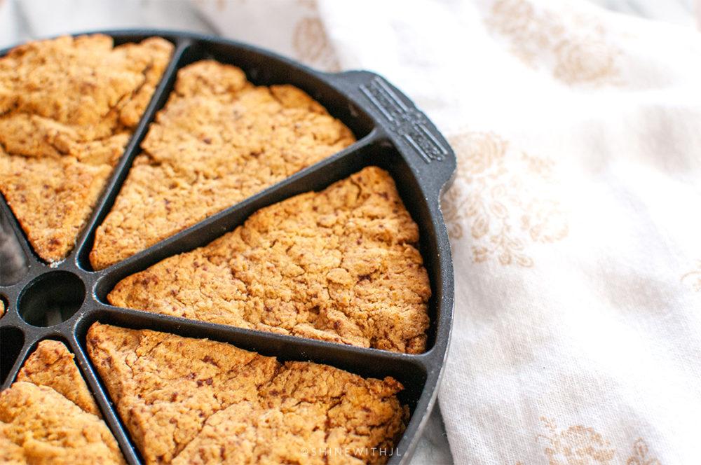 nordic ware scone pan with pumpkin scones