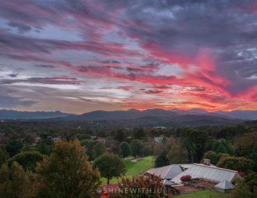 top spot to watch the sunset omni grove park inn asheville north carolina