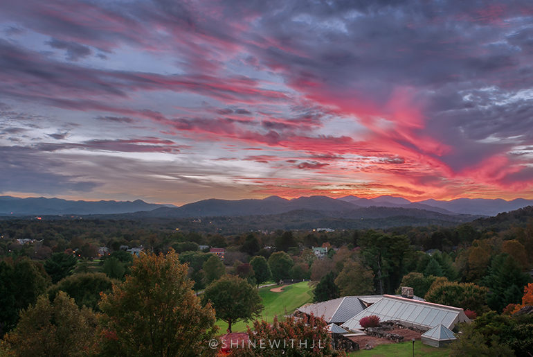 top spot to watch the sunset omni grove park inn asheville north carolina
