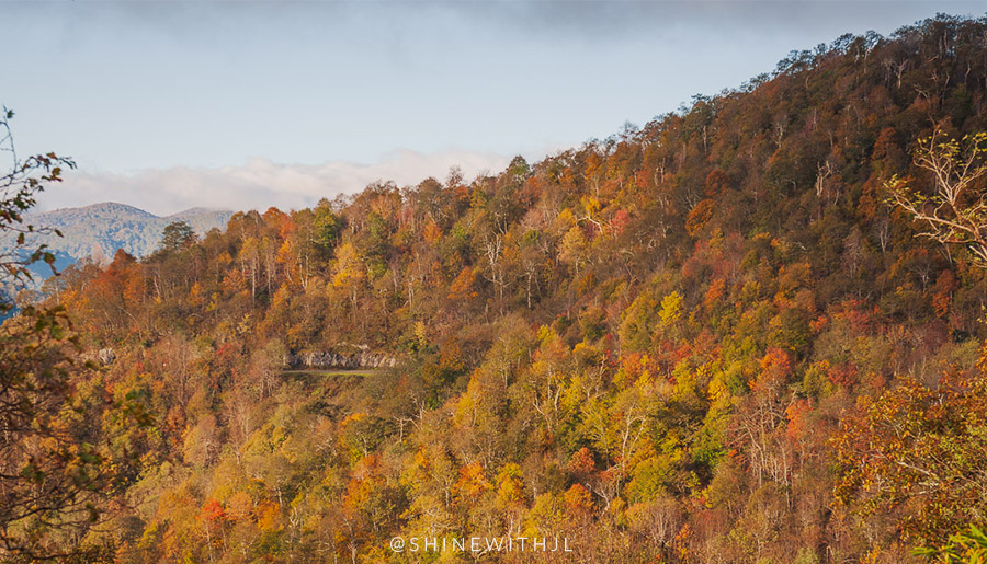 2018 Fall Foliage Map: Blue Ridge Mountains of NC