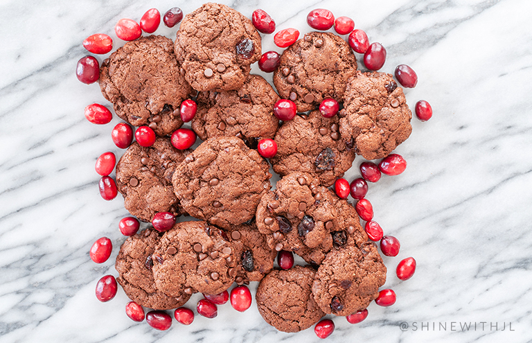 chocolate cranberry cookies holiday recipes