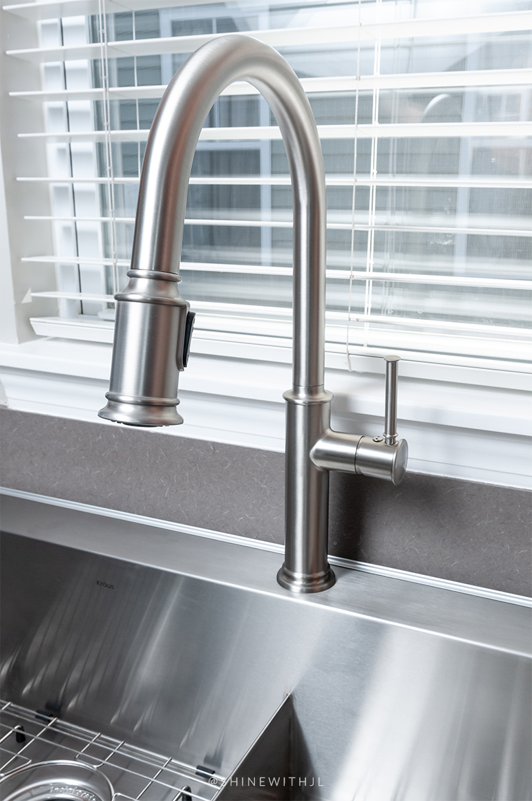 stainless steel spot free high arc faucet kraus