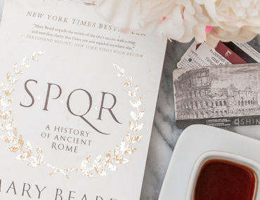 SPQR by Mary Beard with coffee and tickets to the Roman Colosseum