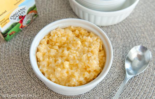 keto side dish cheese cauliflower rice