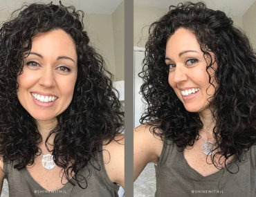 devacurl cut results curly hairstyle medium