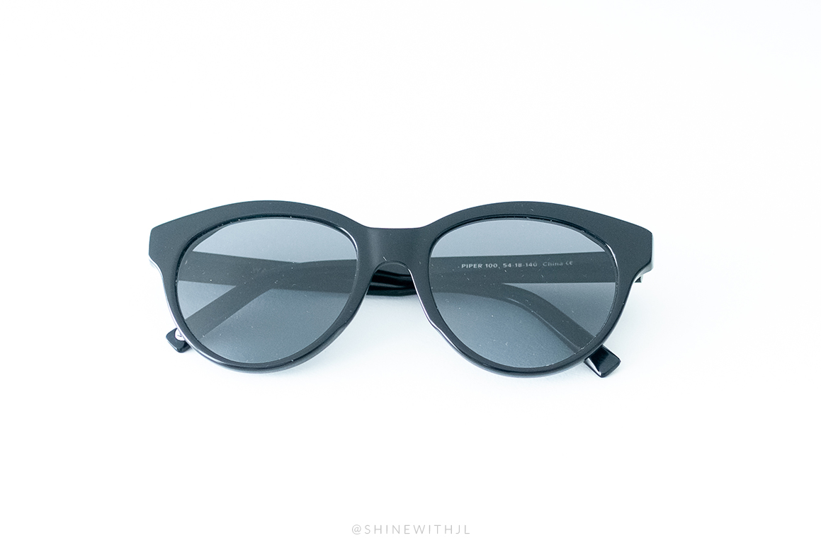 plastic black sunglasses piper warby parker