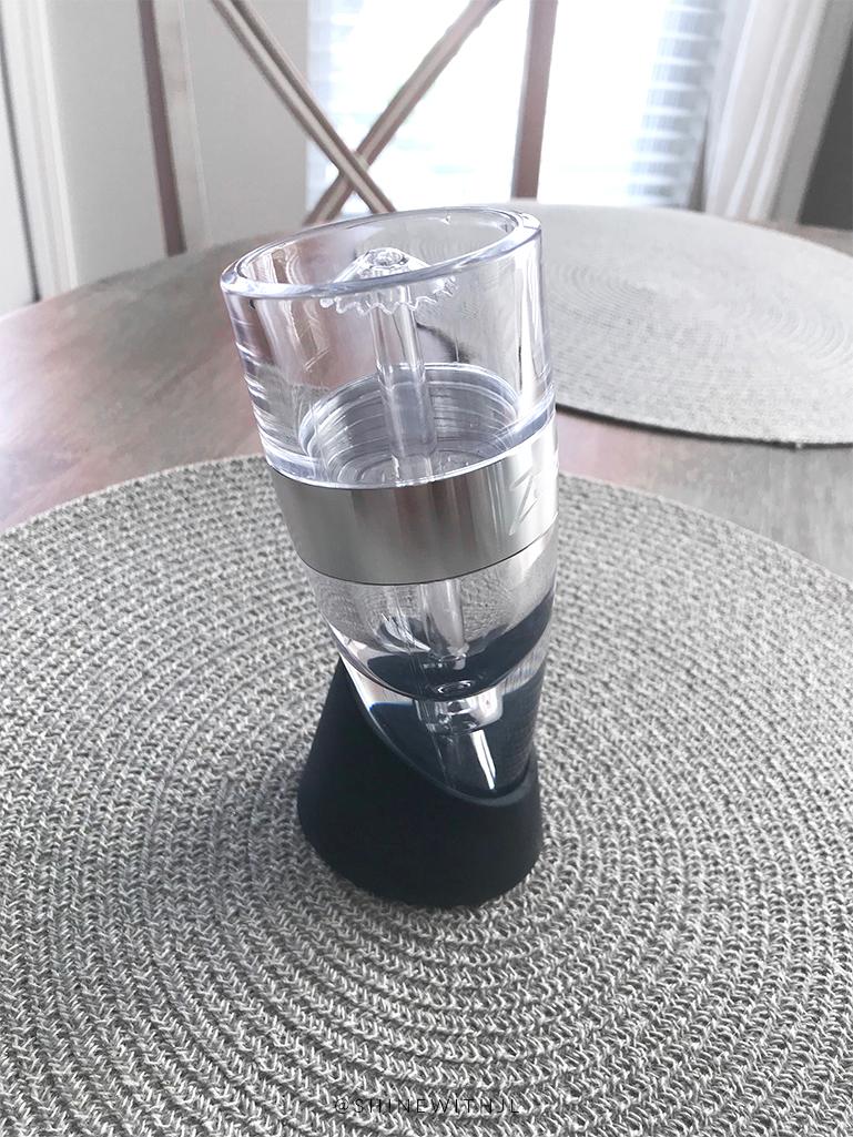 zazzoli wine aerator gift idea