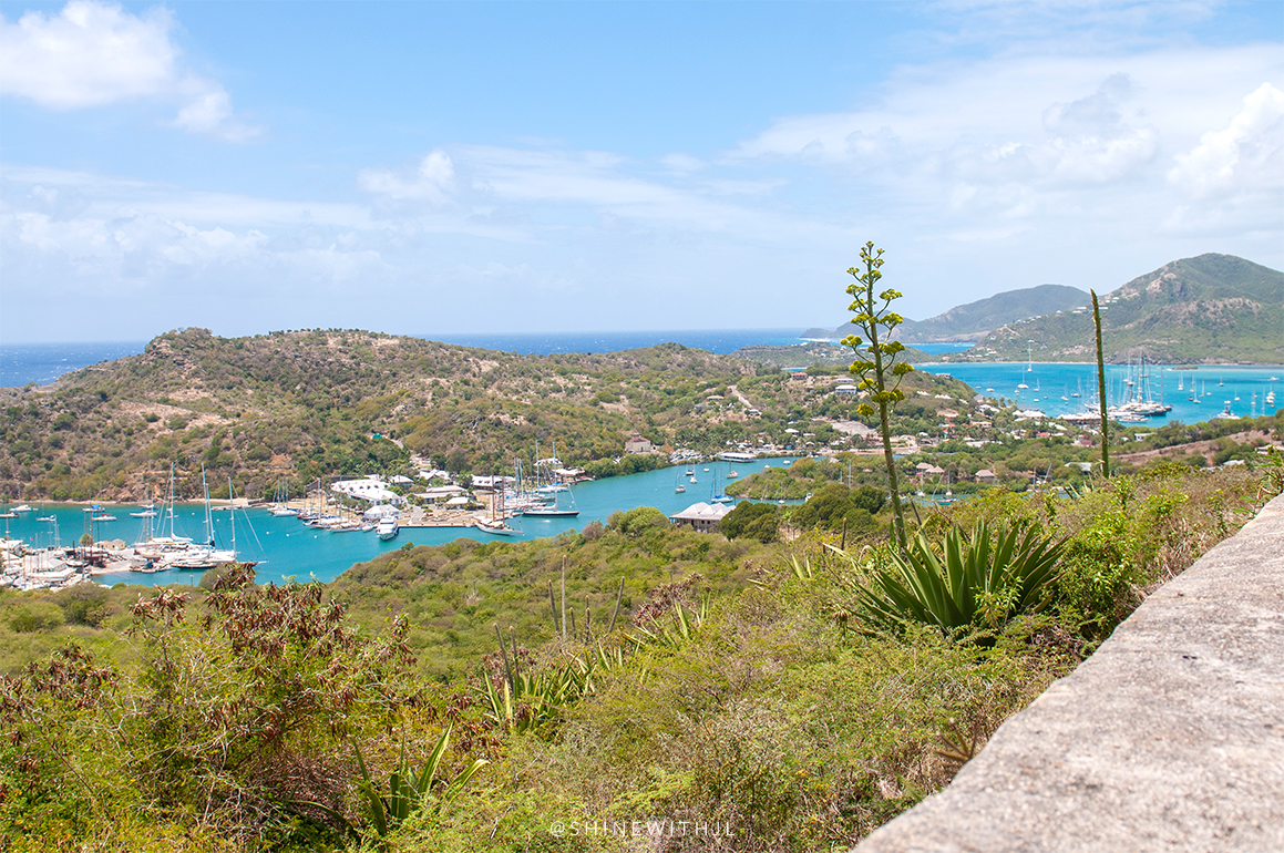 view from shirley's heights antigua