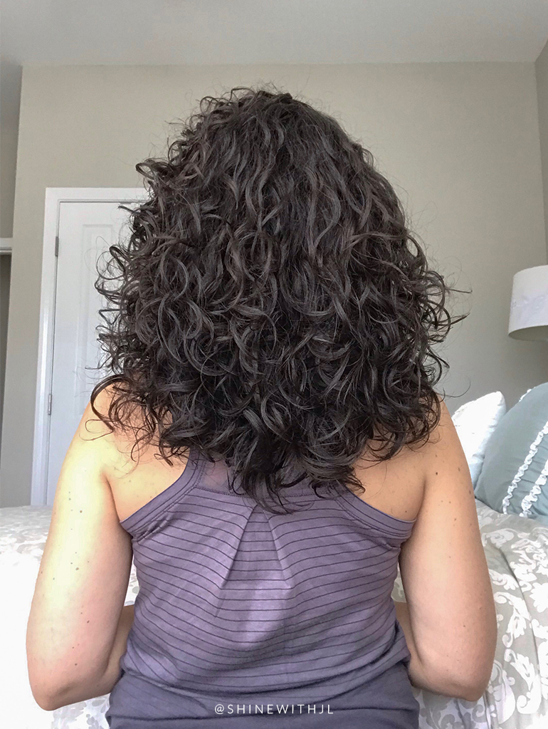 curly hairstyle from the back