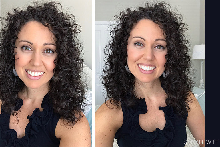 natural curly hairstyle medium to long