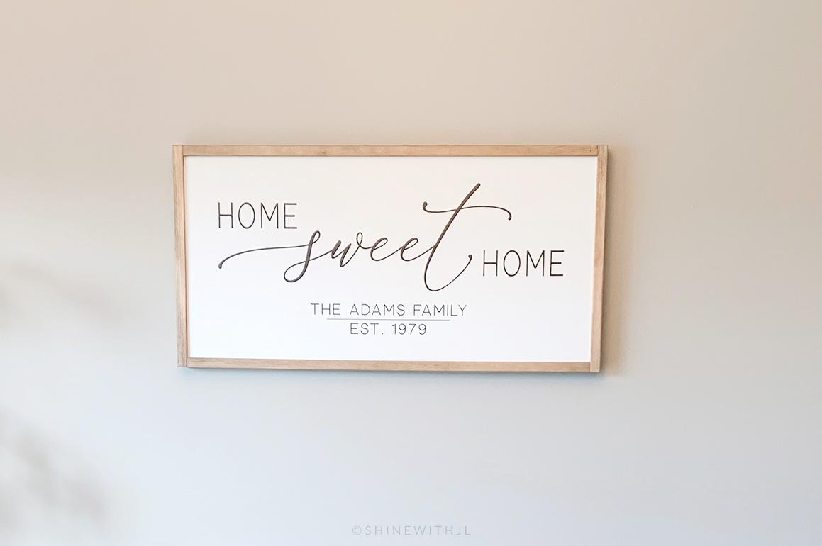 home sweet home custom wood sign wall decor