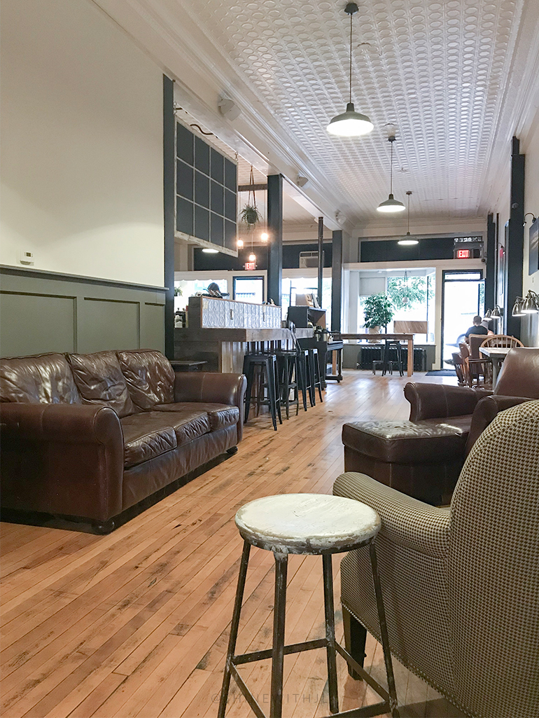 inside wayfarer coffee roasters of laconia nh