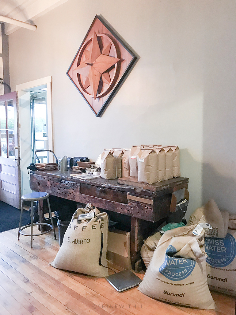 coffee bean bags at wayfarer coffee roasters of laconia nh