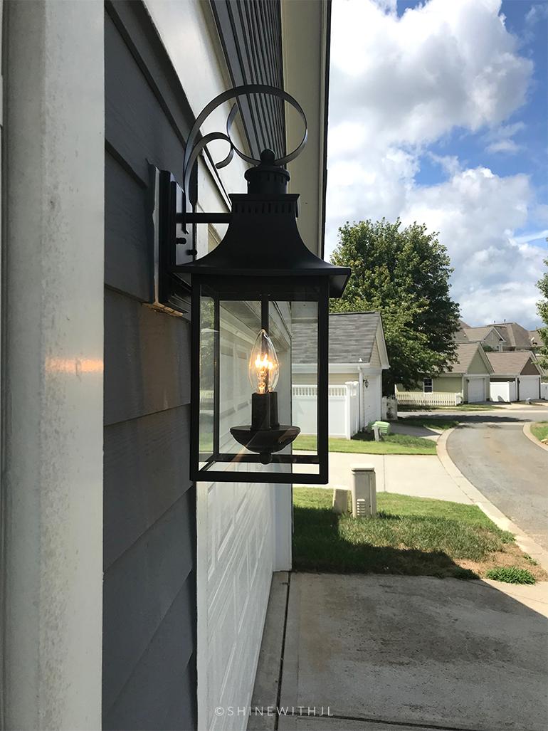 black carriage house lantern for garage
