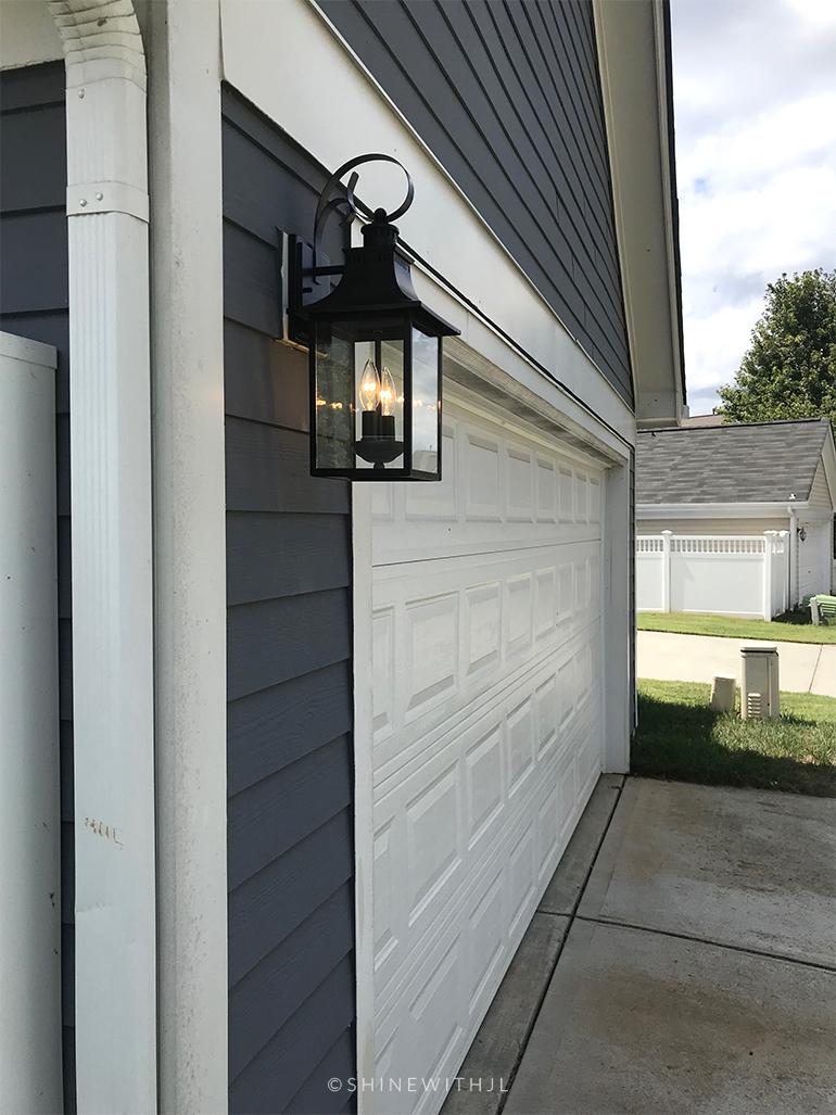 garage wall light fixture carriage house lantern black