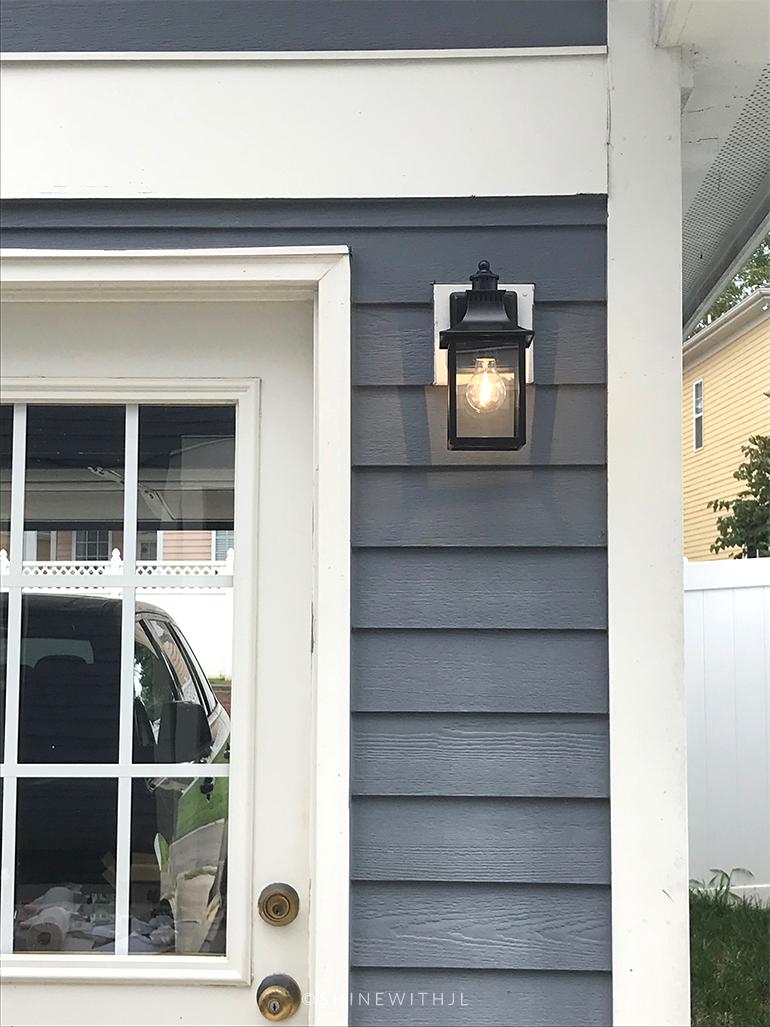 black outdoor wall light fixture