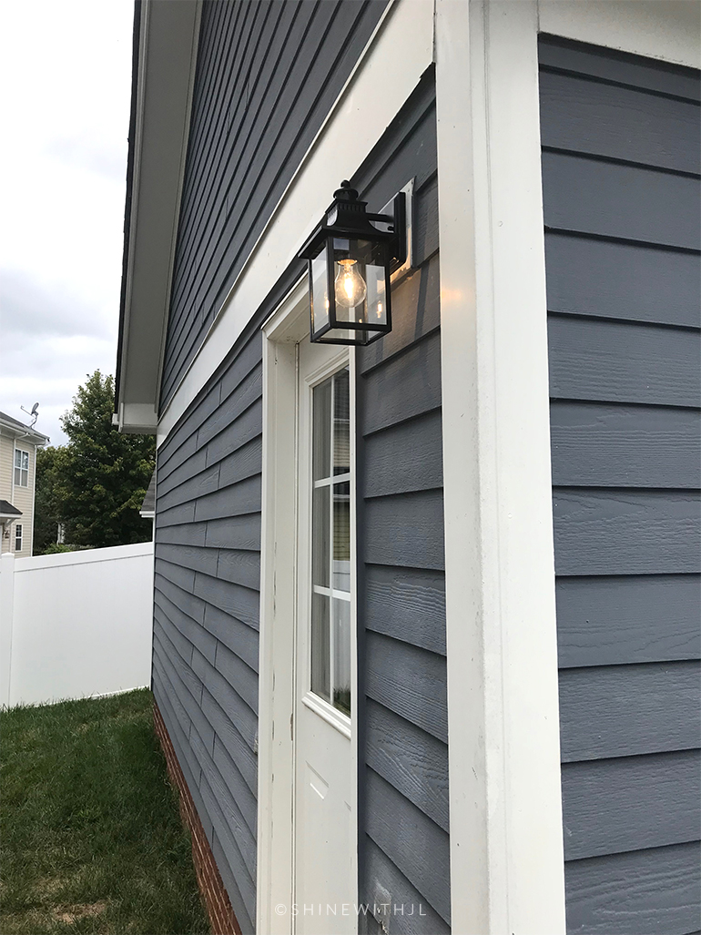 new black clear glass classic outdoor light fixture