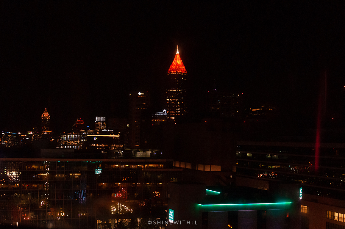 atlanta skyline at night from skyview