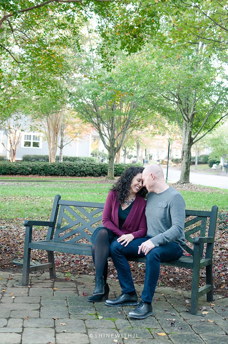 2c 3a curls couples photo shoot park bench