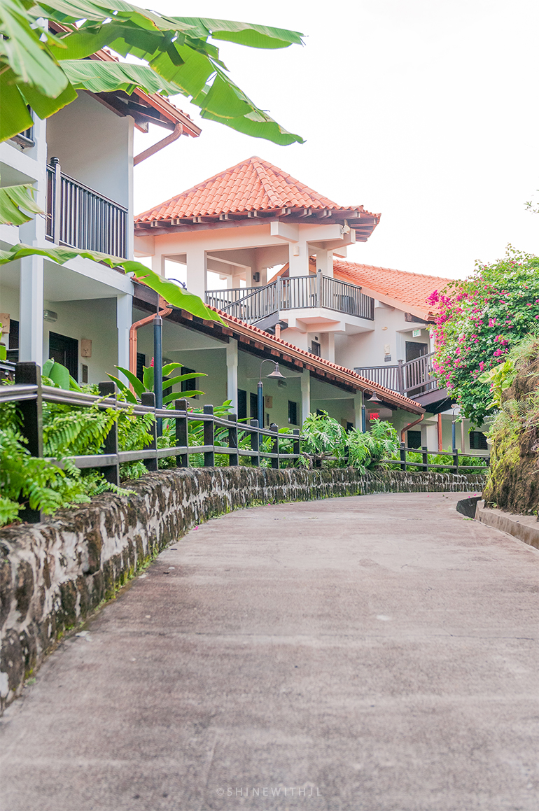 Walking path inside Pink Gin Village