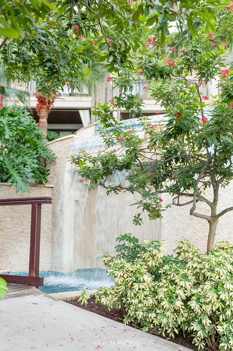 waterfall at sandals resort grenada