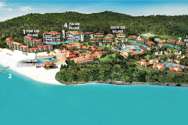 Sandals Grenada Resort and Spa Property Map