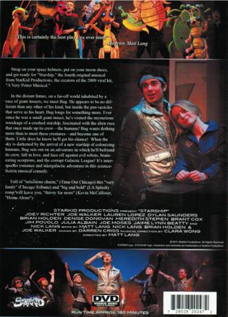 StarKid's Starship on DVD Back