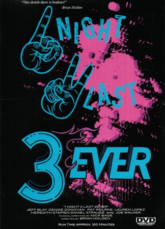 StarKid Presents '1Night 2Last 3Ever' Comedy Show DVD Back