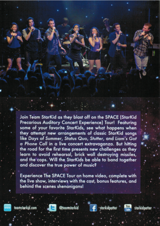 StarKid's SPACE Tour on DVD Back