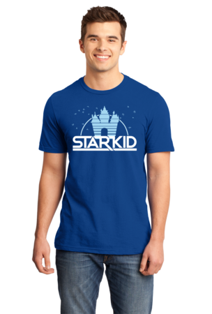 StarKid '2D' Logo Standard Royal Blue Stock Model Front 1 Front