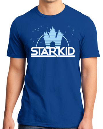 StarKid '2D' Logo Standard Royal Blue Stock Model Front 1 Thumb Front