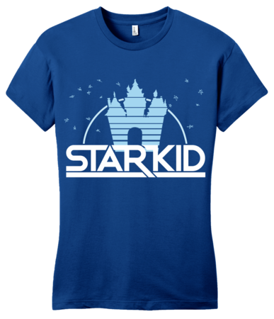 StarKid '2D' Logo Girly Royal Blue Blank with Depth Front