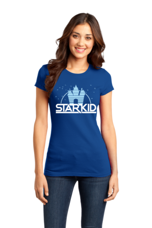StarKid '2D' Logo Girly Royal Blue Stock Model Front 1 Front