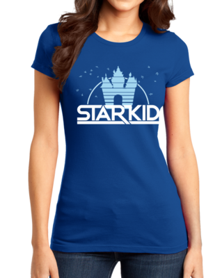 StarKid '2D' Logo Girly Royal Blue Stock Model Front 1 Thumb Front