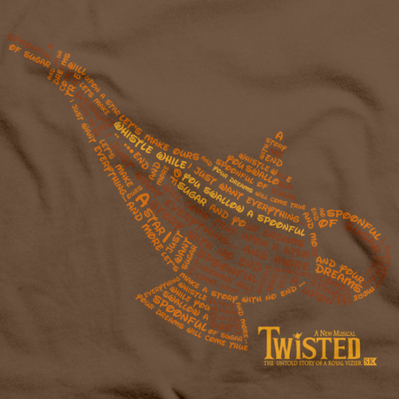 StarKid Twisted Lamp Lyrics Tee Brown thumbnail